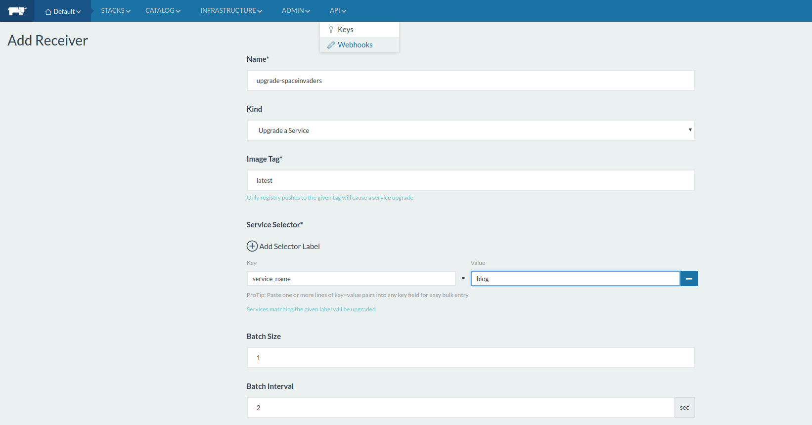 Manage your blog with docker and rancher – spaceinvade rs